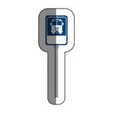 road traffic bus stop signal icon Royalty Free Stock Image