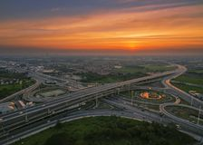 Road traffic in city at twilight , thailand . royalty free stock photo