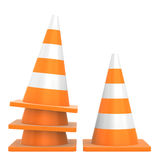 Road traffic cone isolated on white background Stock Photo