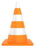 Road traffic cone isolated on white background Royalty Free Stock Image