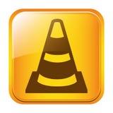 road traffic cone symbol icon Stock Photo