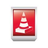 road traffic cone symbol icon Stock Photos