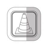 road traffic cone symbol icon Stock Images