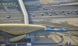 Road traffic in Dubai Stock Photography