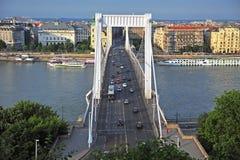 Road traffic on Elisabeth bridge, Budapest Royalty Free Stock Photography