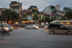 Road Traffic in Hanoi Royalty Free Stock Photography