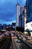 Road traffic in Hong Kong. Stock Photo