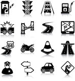 Road traffic icons Royalty Free Stock Images