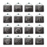 Road and Traffic Icons. Vector icon set Royalty Free Stock Photography