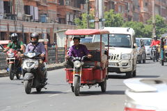 Road Traffic in India Stock Images
