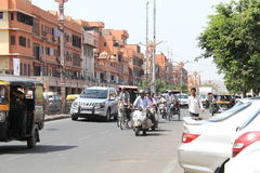 Road Traffic in India Royalty Free Stock Photos