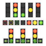 Road Traffic Light Vector. Realistic LED Panel. Sequence Lights Red, Yellow, Green. Go, Wait, Stop Signals. Isolated On Royalty Free Stock Photo