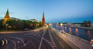 Road traffic near the Kremlin stock footage