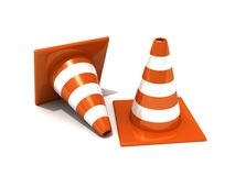 Road traffic orange cones Stock Photography