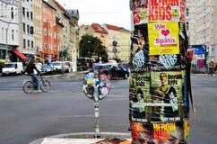 Road traffic at Rosenthaler Platz in Berlin Royalty Free Stock Images