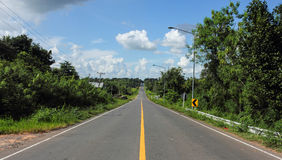 The road traffic. In rural upcountry in Thailand Royalty Free Stock Image
