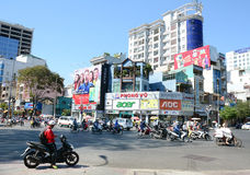 Road Traffic in Saigon (Ho Chi Minh City), Vietnam Stock Photography