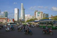Road Traffic in Saigon Stock Photos