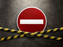 Road traffic sign Stock Image