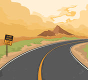 The road traffic sign Stock Image