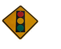 Road Traffic Sign. On white background Royalty Free Stock Photo