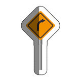 Road traffic signal with arrow Stock Images