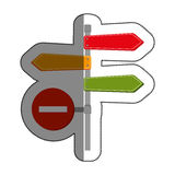 Road traffic signal with arrow Stock Image