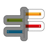 Road traffic signal with arrow Royalty Free Stock Images