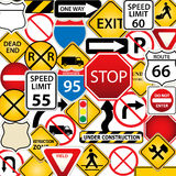 Road and traffic signs Stock Photography
