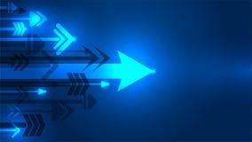 Arrow growing idea concept blue background vector illustration