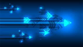 Arrow growing idea concept blue background stock illustration
