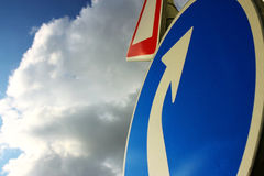 Road trafic sign. Under sky Stock Photography