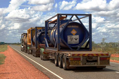 Road train. At Barkly Highway, Northern Territory, Australia Royalty Free Stock Photos