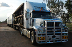 Road train. At Barkly Highway, Northern Territory, Australia Stock Photography