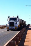 Road train. Big track in western-australia Stock Image