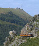 Road train the Mount Larrun, Basque Country Royalty Free Stock Photos