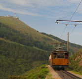 Road train the Mount Larrun, Basque Country Stock Photography