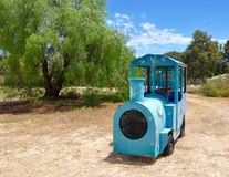 Road Train: Retro Blue Royalty Free Stock Image