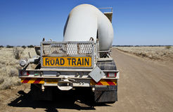 Road train sign Royalty Free Stock Image