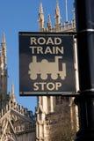 Road Train Stop. Near York Minster. York, England stock photo