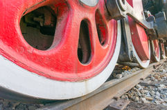 Road - The train wheel Stock Photo