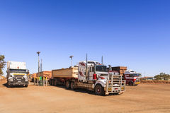 Road Trains Australia Stock Photos