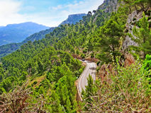 Road in the Tramuntana mountains, Majorca Royalty Free Stock Photography