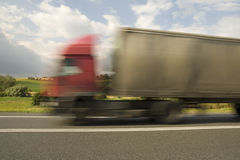 Road Transport. Shipping goods by heavy truck Stock Photography