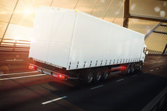 Road transport. 3D Rendering Stock Photos