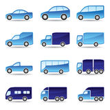 Road transport icon set Royalty Free Stock Photography