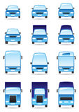 Road transport icon set Royalty Free Stock Photo