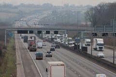 Road transport - traffic on the british motorway Stock Image