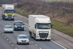 Road transport - traffic on the british motorway Royalty Free Stock Photo