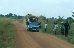 Road transport in Uganda. Stock Photos
